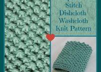 Crochet/knittet klude/dishcloths