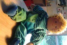 Waldorf Puppe nähen / Ich habe gerade die ca. 8. Puppe dieser Art angefertigt. Sie bekommt Greta zur Taufe. Beim Entstehen der Puppe wächst sie mir jedes mal ans Herz.
