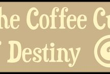 The Coffee Cup of Destiny / The Coffee Cup of Destiny is a series of storylines from SCHRÖDINGER'S Coffee House - a webcomic. 'DJ Woof' is the latest, following Max the dog as he falls once again into another adventure. Follow at http://murpworks.com/sch/