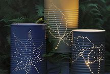 Tin Can Lighting and Crafts / Upcycled tin can lighting and DIY craft decor