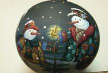 christmas tree toys/новорічні кулі/новогодние шарики/bomki / Made by Olga Chirkova