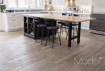 Idées cuisines avec plancher en bois franc