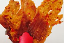 Asian TOCINO Pork  Jerky Lovers / Tantalised your taste buds traditionally made of thin slices of lean meat it has asian has asian flavour a bit of sweetness moist & pleasant to bite