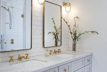 Brass Fixtures: Bathroom / Brass goes just as nicely in the bathroom. Add some sophisticated class with this warm hued hardware.