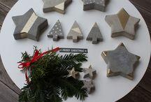 Julepynt i betong