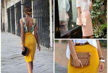 Summer clothes walking