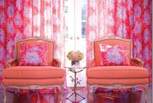 Colorful Fabrics and Furniture / Window Treatment Ideas and Coordinating Furniture