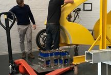 Work in Progress / Photo shoot of Mellowcabs Team busy assembling the first cab. You know, innovation is hard work!