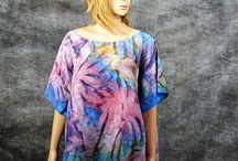 Silk handmade ponchos