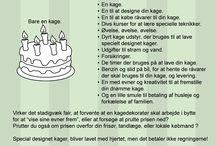 Kageråd / Forskellige råd og citater omkring kage