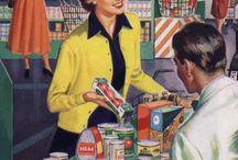 Vintage Cookbooks & Food Ads / Vintage cookbooks and nostalgic food ads.