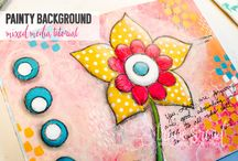 Tracie Stroud Mixed Media Art and Tutorials / art, art journaling, art journal, tutorials, mixed media