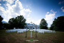 Pharsalia Weddings / Pledge your love at Pharsalia! This unique historic home in the country is available for weddings. With a backdrop of the Blue Ridge Mountains, this plantation home is surrounded by orchards, vineyards and lovely gardens. Rich in history, Pharsalia was built as a working plantation in 1814 as a wedding gift for the owners great-great-grandfather.