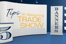 Trade Show and Event Displays / Retractable banners, table top banners, and other methods of effective trade show and event signs.