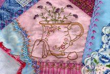Tea cup challenge crazy patchwork