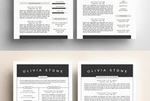graphic design_invoices and CVs