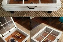 old window coffee tables