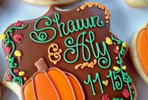 -- C O O K I E S * a u t u m n -- / Fall and Thanksgiving themed sugar cookies