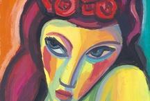 Cuadros de retratos de mujeres - Portraits and paintings woman faces / Serie de retratos de mujeres pintados por Guillermo Martí Ceballos. Series of portraits of women painted by Guillermo Martí Ceballos