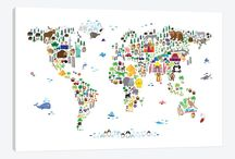 Canvas Wall Maps