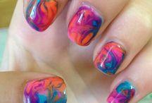Gel nails / Swirl nails