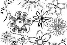 Flores para dibujar
