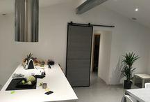 Porte coulissante / Décoration interieur contemporaine