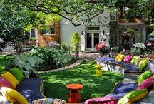 porch/library garden