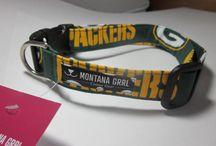 Football fan collars / handmade collars for the football fans. Not NFL licensed collars