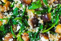 Roasted eggplant with Spinach & Quinoa !