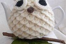 Crochet teapot cosies