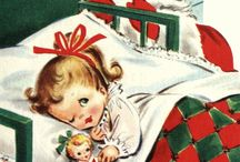 Vintage Christmas Cards - Cute