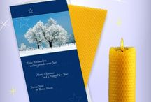 Kerzen und Weihnachtskarten / Grüße und Wünsche zu Weihnachten verbunden mit einer Kerze aus echtem Bienenwachs zum Selberdrehen. Bleibt in Erinnerung bei Kunden, Geschäftspartnern und Mitarbeitern.