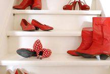dress me-footwear in Red / by Kulsum F. Dorego