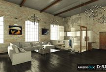 Living ArredoCAD / A selection of the best living space projected by Accademia ArredoCAD.  All renders are made with software ArredoCAD