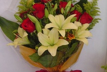 Bouquets / Different wrapped presentation bouquets that can be easily transported.