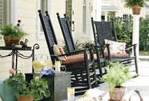 Outdoor Living Spaces / Porches ... Outdoor Space ... Rocking Chairs ... Relaxation ...