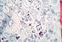 eigen creaties / zelf gemaakt graffiti