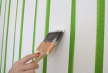 Wall paint vertical stripes