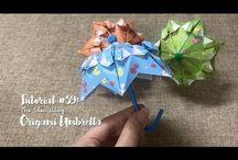 origami umbrellas