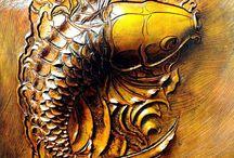 JM: leather carving