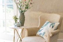 Organic Botanical Living Room Interior
