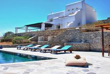 Villa Kappas #Mykonos #Greece #Island / Villa Kappas is a traditional villa located near the golden sands of the beautiful beach of Agios Sostis, famous for its nature and turquoise waters . The villa boasts a privilégière position with extensive views breathtaking Aegean Sea and the northern coast of the island, which reveals the true beauty of the original landscapes of Mykonos. http://www.mygreek-villa.com/fr/rent-villa-search-2/villa-kappas