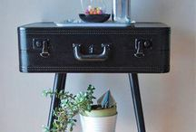 suitcase sidetable