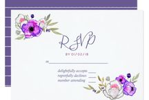 Ultra Violet Spring Wedding watercolor wildflower collection / Spring Wedding suite featuring color of the year 2018. If you require more products with the same theme contact this Designer.