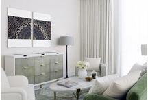 Green sofa interiors