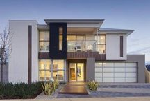 Front of modern homes