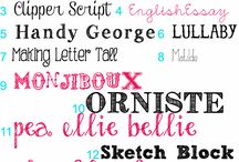 fonts and writing. / by Ashleigh Richter