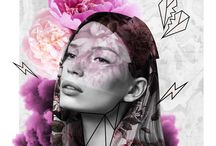 Illustrations by me / A selection of my mixed media/ fashion/ collage illustrations