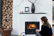 Fire place modern house
